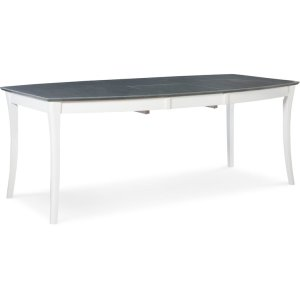 JOHN THOMAS FURNITURESalerno Butterfly Extension Table in Heather Gray & White