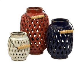 Bailey Lattice Lanterns - Set of 3