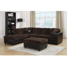 Mallory Casual Dark Chocolate Sectional