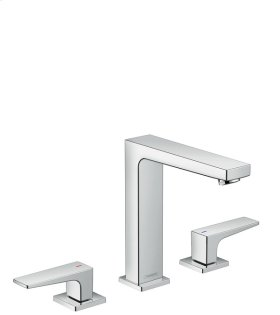 Chrome Metropol 160 Widespread Faucet with Lever Handles without Pop-Up, 1.2 GPM