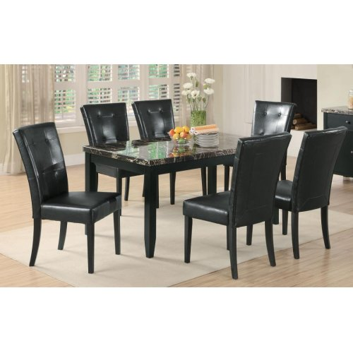 Anisa Casual Black Dining Table