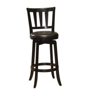 Hillsdale FurniturePresque Isle Swivel Barstool W/black Vinyl