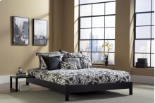 Murray Platform Bed (Black) - QUEEN