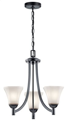 Serina 3 Light Chandelier Black