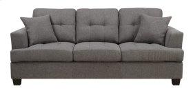 Sofa W/2 Pillows Grey