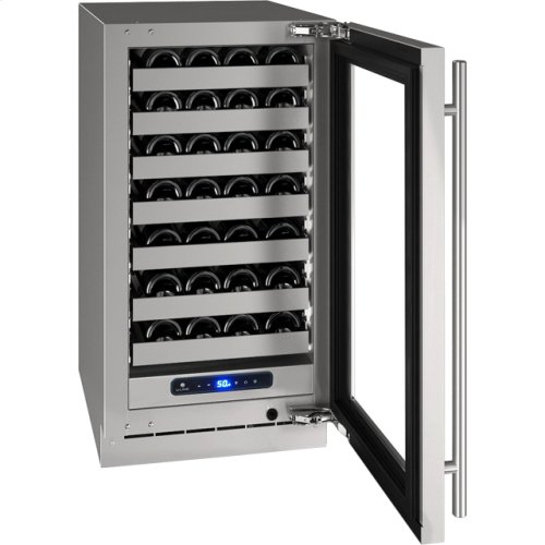 """5 Class 18"""" Wine Captain® Model With Stainless Frame (with Lock) Finish and Left-hand Hinged Door Swing (115 Volts / 60 Hz)"""