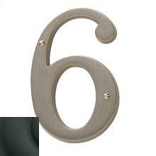 Satin Black House Number - 6