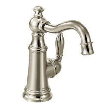 Weymouth polished nickel one-handle bar faucet