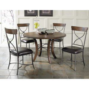 Hillsdale FurnitureCameron 5pc Round Wood Dining Set With X Back Chairs