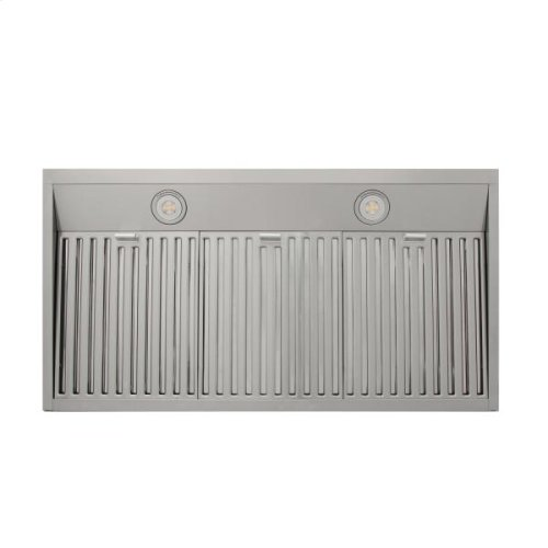 36in Wall Mount Chimney Range Hood In Stainless Steel With LED Lights, Touch Control With Display and Remote Control