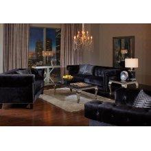 Reventlow Formal Black Three-piece Living Room Set
