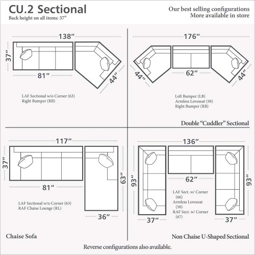 CU.2 Cuddler L-Shaped Sectional