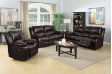 8026 Brown Manual Reclining Sofa