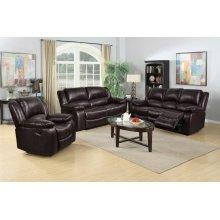 8026 Brown Manual Reclining Sofa