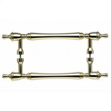 Somerset Finial Door Pull Back to Back 8 Inch (c-c) - Polished Brass