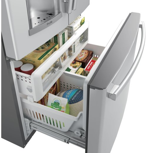 GE Profile Series ENERGY STAR® 27.8 Cu. Ft. French-Door Refrigerator with Keurig® K-Cup® Brewing System