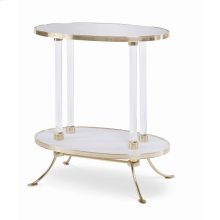 Juliet Cigarette Table With Plain Mirror
