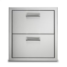 """19"""" Stainless Steel Double Drawers"""