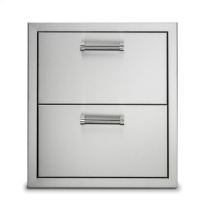 "Viking 19"" Stainless Steel Double Drawers"