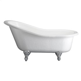 "Imogene 67"" Acrylic Slipper Tub - White"
