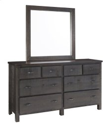 Dresser \u0026 Mirror - Scorched Pine Finish