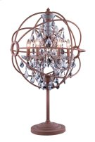 "1130 Geneva Collection Table Lamp D:22"" H:34"" Lt: Rustic Intent Finish (Royal Cut Silver Shade Crystals) Product Image"