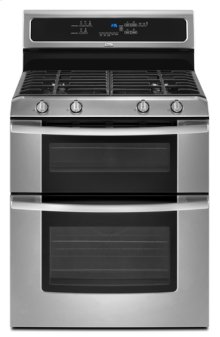 Stainless Steel Whirlpool Gold® Double Oven Freestanding Gas Range