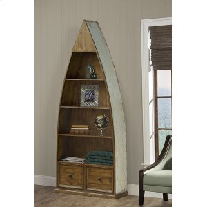 Hillsdale FurnitureTuscan Retreat(r) Dinghy Boat 4 Shelves Bookcase With Drawers - Sea Blue