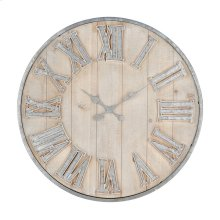 Adelaide Galvanized Wall Clock