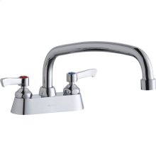 "Elkay 4"" Centerset with Exposed Deck Faucet with 12"" Arc Tube Spout 2"" Lever Handles"