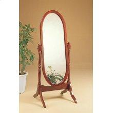 Traditional Warm Brown Floor Mirror
