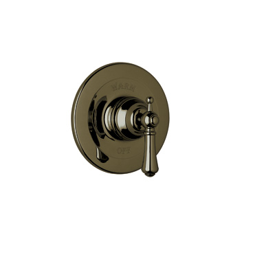 English Bronze Perrin & Rowe® Georgian Era Pressure Balance Trim Without Diverter with Georgian Era Style Solid Metal Lever