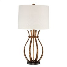 Strapped Metal Table Lamp