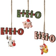 """EI-EI-O"" Ornament (3 asstd)."