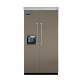 "Stone Gray 42"" Side-by-Side Refrigerator/Freezer with Dispenser - VISB (Integrated Installation)"