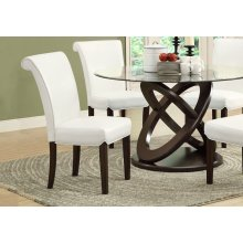 "DINING CHAIR - 2PCS / 39""H / TAUPE LEATHER-LOOK"