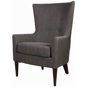 Tristan Arm Chair Black Legs, Black Herringbone/Vintage Gray