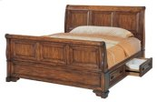 Queen Sleigh Bed Storage Pedestal