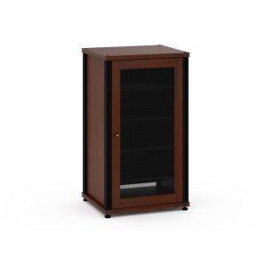 Salamander DesignsSynergy Solution 402, Single-Width AV Cabinet, Walnut with Black Posts