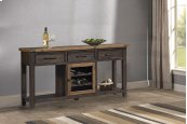 Tuscan Retreat® Sofa Table With Metal Door Wine Rack - Case Sua Two-tone / Brushed Bronze