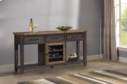 Tuscan Retreat® Sofa Table With Metal Door Wine Rack - Case Sua Two-tone / Brushed Bronze Product Image