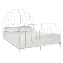 Paloma Metal Retro Bed - White