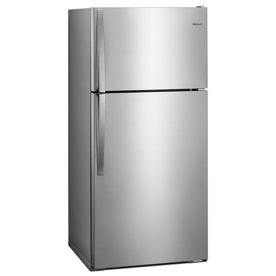 monochromatic stainless steel. Whirlpool® 28-inch Wide Top Freezer Refrigerator - 14 Cu. Ft. Monochromatic Stainless Steel N