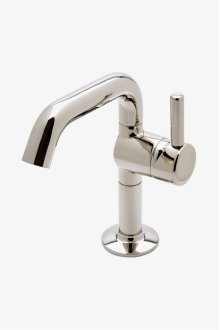 .25 One Hole High Profile Bar Faucet, Short Metal Handle STYLE: PTKM35