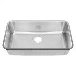 American StandardPrevoir Stainless Steel Undermount 32-3/4 Inch by 18-3/4 Inch 1-Bowl Kitchen Sink - Brushed Stainless Steel