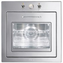 """60CM (approx 24"""") """"Piano Design"""" Thermo-ventilated Electric Multifunction Oven Polished Stainless Steel"""