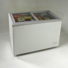 Model CF268G - 9.5 CF Commercial Glass Top Display Chest Freezer - White