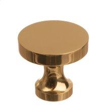 """1 1/8"""" Knob - Polished Brass"""