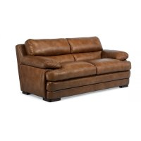 Dylan Leather Two-Cushion Sofa without Nailhead Trim Product Image