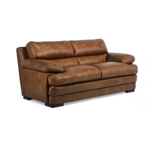 FLEXSTEELHOMEDylan Leather Two-Cushion Sofa without Nailhead Trim